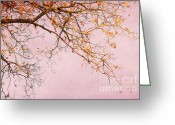 Bittersweet Digital Art Greeting Cards - Autumn Leaves Greeting Card by Iris Lehnhardt