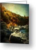 Rock Formation Greeting Cards - Autumn Lights Greeting Card by Leah Moore