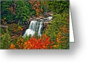 Reds Greeting Cards - Autumn Magic paint Greeting Card by Steve Harrington