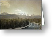 Winter Photos Greeting Cards - Autumn Majestic Greeting Card by Andrea Hazel Ihlefeld