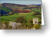 English Countryside Print Greeting Cards - Autumn Mam Tor Peveril Castle Greeting Card by Darren Burroughs