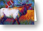 Elk Greeting Cards - Autumn Greeting Card by Marion Rose