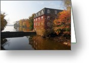 Noth Greeting Cards - Autumn Morning at the Kingston Mill Greeting Card by George Oze