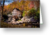 Glade Mill Greeting Cards - Autumn Morning in West Virginia Greeting Card by Jeanne Sheridan