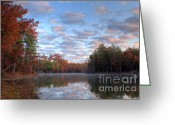 Clods Greeting Cards - Autumn Morning Greeting Card by Lynn Whitt