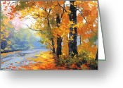 Elm Greeting Cards - Autumn Mt Wilson Greeting Card by Graham Gercken