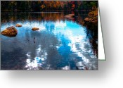 Folage Greeting Cards - Autumn on Cary Lake Greeting Card by David Patterson