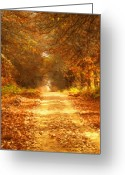 Texture Greeting Cards - Autumn Paradisium Greeting Card by Zeana Romanovna