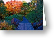 Brian Kerls Greeting Cards - Autumn Path Greeting Card by Brian Kerls