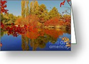 Autumns Mixed Media Greeting Cards - Autumn Photography Moment - Scenic Idaho Greeting Card by Photography Moments - Sandi