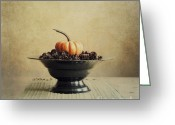 Thanksgiving Greeting Cards - Autumn Greeting Card by Priska Wettstein