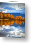 Okanagan Greeting Cards - Autumn Reflections at Sunoka Greeting Card by Tara Turner