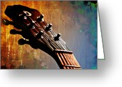 Acoustic Guitar Greeting Cards - Autumn Rhapsody Greeting Card by Christopher Gaston