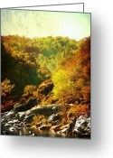 Rock Formation Greeting Cards - Autumn Ridge Greeting Card by Leah Moore