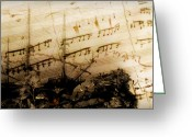 Pedro Cardona Greeting Cards - Autumn Sail With Mozart Greeting Card by Pedro Cardona