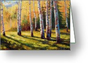 Shade Greeting Cards - Autumn Shade Greeting Card by David G Paul