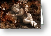 Autumnal Digital Art Greeting Cards - Autumn Sleep Greeting Card by Marc Huebner