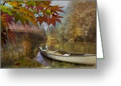 Paddles Greeting Cards - Autumn Souvenirs Greeting Card by Debra and Dave Vanderlaan