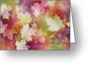 Deb Ronglien Watercolor Greeting Cards - Autumn Splendor Greeting Card by Deborah Ronglien
