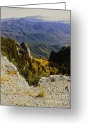 Autumn Photographs Greeting Cards - Autumn Summit Sandia Greeting Card by Andrea Hazel Ihlefeld
