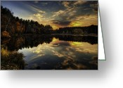 Changing Colors Greeting Cards - Autumn Sunset 2 Greeting Card by Thomas Young