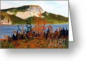 Colors Of Autumn Greeting Cards - Autumn Sunset on the Hills Greeting Card by Barbara Griffin