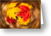 Twirl Greeting Cards - Autumn Trance Greeting Card by Matt Dobson