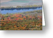 Western Massachusetts Greeting Cards - Autumn View From Skinner State Park No. 1 Greeting Card by Smilin Eyes  Treasures