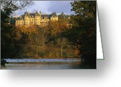 Vanderbilt Greeting Cards - Autumn View Of The Biltmore Greeting Card by Melissa Farlow