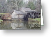 Most Photographed Photo Greeting Cards - Autumn Visits Mabry Mill Greeting Card by Shannon Slaydon