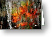 Superb Greeting Cards - Autumn Water Colors Greeting Card by Robert Harmon
