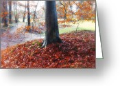 Fall Photographs Greeting Cards - Autumn Whispers II Greeting Card by Artecco Fine Art Photography - Photograph by Nadja Drieling