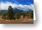 Lassen Greeting Cards - Autumn Windmill At Thompson Peak Greeting Card by James Eddy
