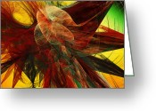 Awe Inspiring Greeting Cards - Autumn Wings Greeting Card by Andee Photography