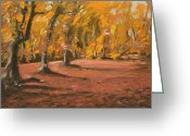 Autumn Landscape Pastels Greeting Cards - Autumn Woods 6 Greeting Card by Paul Mitchell
