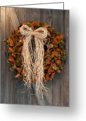 Tom Biegalski Greeting Cards - Autumn wreath Greeting Card by Tom Biegalski