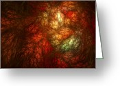 Red Fall Colors Greeting Cards - Autumnal Fire Greeting Card by Scott Norris