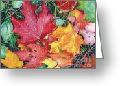 Barbara Painting Greeting Cards - Autumns Carpet Greeting Card by Barbara Jewell