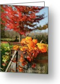 October Greeting Cards - Autumns colorful harvest  Greeting Card by Sandra Cunningham