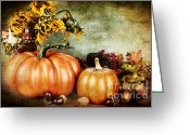 Sunflower Studio Art Greeting Cards - Autumns Offerings Greeting Card by Stephanie Frey
