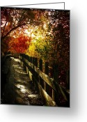 Rock Formation Greeting Cards - Autumns Rainbow Greeting Card by Leah Moore