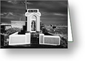 Virgin Maria Greeting Cards - Ave Maria Roadside Shrine In County Sligo In The West Of The Republic Of Ireland Greeting Card by Joe Fox