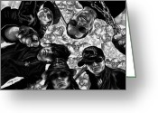 Famous People Drawings Greeting Cards - Avenged Sevenfold Greeting Card by Kathleen Kelly Thompson