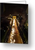 Champs Elysees Greeting Cards - Avenue des Champs d Elysees Greeting Card by Mark Currier