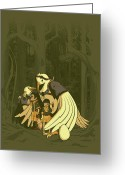 Armor Greeting Cards - Aviary Adoption Greeting Card by Michael Myers