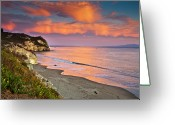Scenics Greeting Cards - Avila Beach At Sunset Greeting Card by Mimi Ditchie Photography
