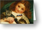 Kid Painting Greeting Cards - Awake Greeting Card by Sophie Anderson