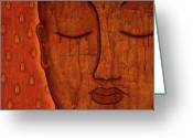 Tibetan Buddhism Greeting Cards - Awakened Mind Greeting Card by Gloria Rothrock