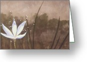 Contemplative Painting Greeting Cards - Awakening Greeting Card by Jerome Lawrence