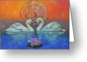 Lotus Greeting Cards - Awakening to the Beauty Within Greeting Card by Sundara Fawn